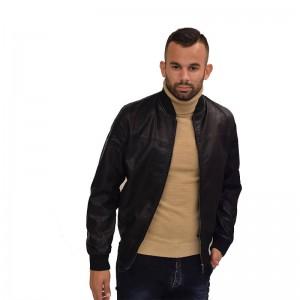 AL FRANCO JACKET BLACK ΔΕΡΜΑΤΙΝΟ ALFRANCO1002