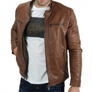 BISTON JACKET CAMEL ΔΕΡΜΑΤΙΝΟ 40-201-059