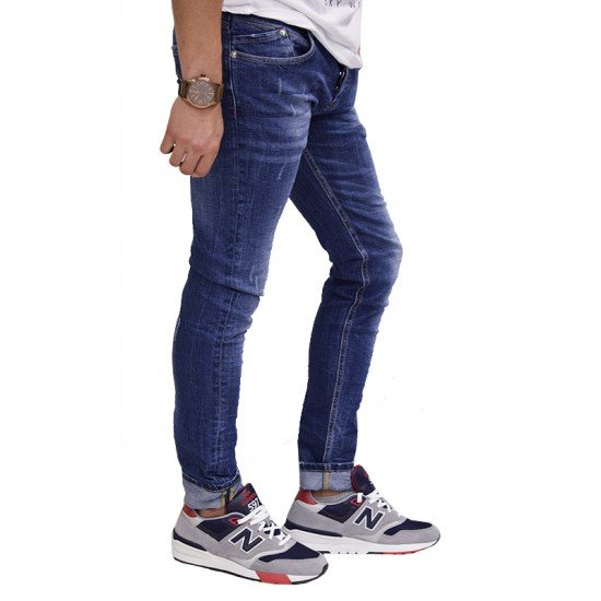 BADGE JEANS BLUE SHOOTER-10011