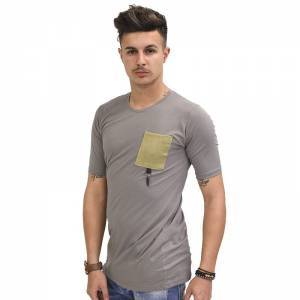 STEFAN FASHION T-SHIRT ΓΚΡΙ 3509