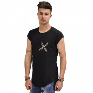 STEFAN FASHION T-SHIRT ΜΑΥΡΟ 3505