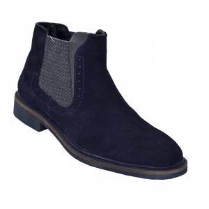 LONDONS LIFE SUEDE LEATHER OXFORD NAVY 65751