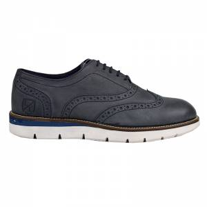 LONDONS LIFE LEATHER OXFORD NAVY 65475