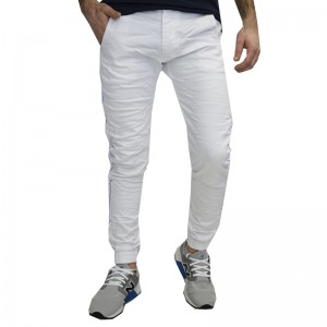 BACK 2 JEANS WHITE DENIM PANTS B6B ΑΣΠΡΟ ΠΑΝΤΕΛΟΝΙ