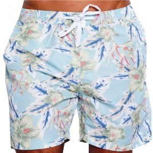 SOUL STAR ΑΝΔΡΙΚΟ ΜΑΓΙΟ LIGHT BLUE FLORAL SWIMMING SHORTS 33-231-001