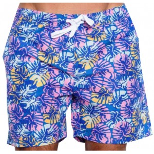 SOUL STAR ΑΝΔΡΙΚΟ ΜΑΓΙΟ BLUE TROPICAL FLORAL SWIMMING SHORTS 33-231-002