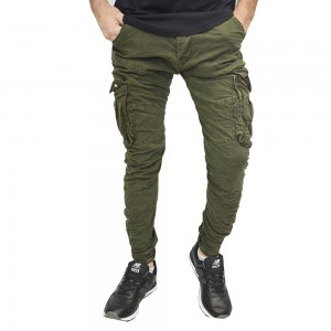 BACK 2 JEANS CARGO ARMY GREEN ΑΝΤΡΙΚΟ CARGO XAKI T21