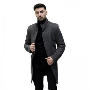 ZEN & ZEN ΑΝΔΡΙΚΟ ΠΑΛΤΟ ΣΚΟΥΡΟ ΓΚΡΙ 00762