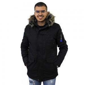 AL FRANCO ΑΝΔΡΙΚΟ ΜΠΟΥΦΑΝ PARKA BLACK ALF081