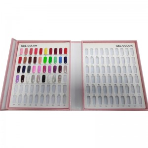 120 COLORS NAIL GEL POLISH DISPLAY CHART WITH TIPS NAIL POLISH COLOR CHART