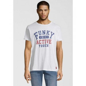 FUNKY BUDDHA T-SHIRT ACTIVE TOUCH WHITE FBM051-04119