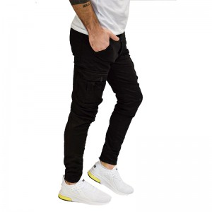 SENIOR ΑΝΔΡΙΚΟ CARGO BLACK SLIM FIT SEN-12