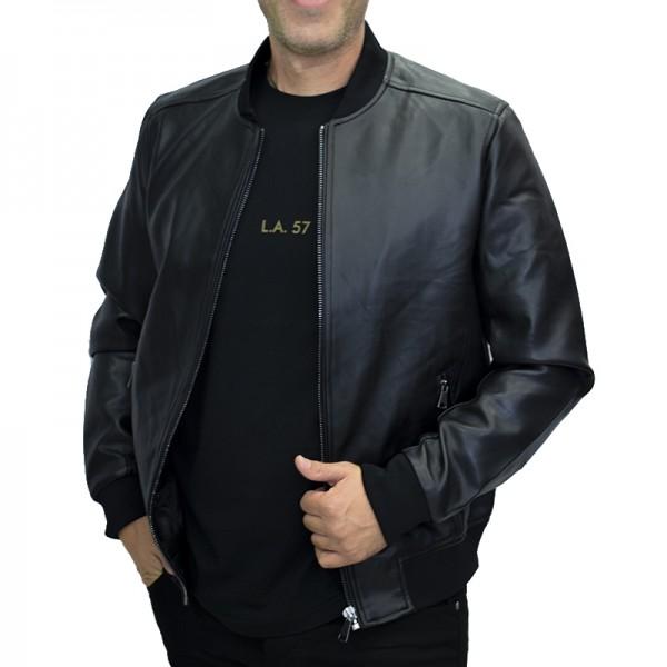 AL FRANCO JACKET BLACK ΔΕΡΜΑΤΙΝΟ AM8807