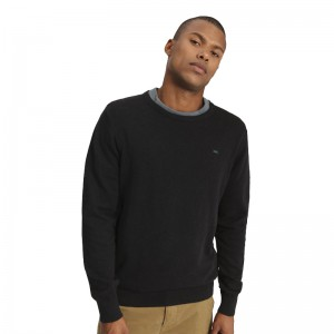 FUNKY BUDDHA MEN'S KNITTED SWEATER BLACK ΠΛΕΚΤΟ ΠΟΥΛΟΒΕΡ FBM001-09219