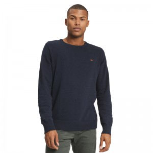 FUNKY BUDDHA MEN'S KNITTED SWEATER NAVY ΠΟΥΛΟΒΕΡ FBM001-09219