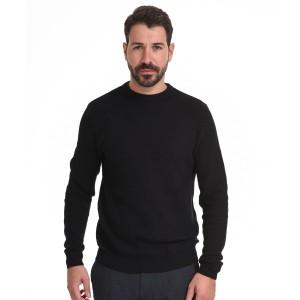 SMART FASHION  ΑΝΔΡΙΚΗ ΠΛΕΧΤΗ ΜΠΛΟΥΖΑ BLACK  44-206-012