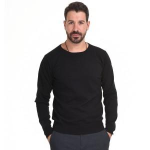 SMART FASHION  ΑΝΔΡΙΚΗ ΠΛΕΧΤΗ ΜΠΛΟΥΖΑ BLACK 44-206-024