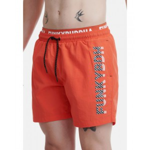 FUNKY BUDDHA ΑΝΔΡΙΚΟ ΜΑΓΙΟ SWIMMING SHORTS BASIC ORANGE FBM00100216