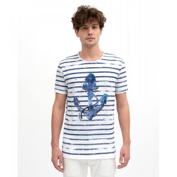 GIANNI LUPO T-SHIRT ΚΟΝΤΟΜΑΝΙΚΟ WHITE PL1506