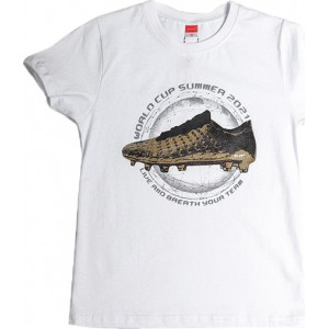 JOYCE ΠΑΙΔΙΚΟ T SHIRT GOLDEN SHOE  211700 WHITE