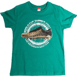 JOYCE ΠΑΙΔΙΚΟ T SHIRT GOLDEN SHOE  211700 GREEN