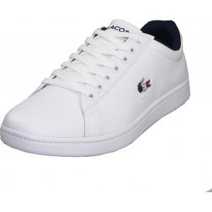 LACOSTE MEN'S CARNABY EVO TRI1 SMA WHITE/NAVY/RED 39SMA0033407