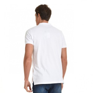 SMART POLO ΚΟΝΤΟΜΑΝΙΚΟ T-SHIRT  45-206-001 WHITE