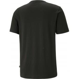Puma Ess Ανδρικό T-shirt Μαύρο με Λογότυπο  586668-01