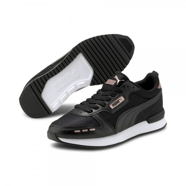 PUMA SNEAKERS R78 METALLIC WOMEN'S SNEAKERS BLACK 374739-01