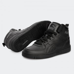 PUMA SNEAKERS JOY  BASKET BOOTS 374765-07 BLACK
